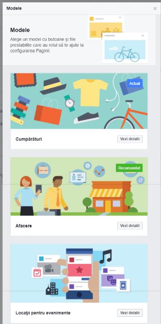 Modele Facebook